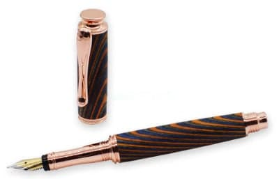 aston pen kit - copper fountain pen kit